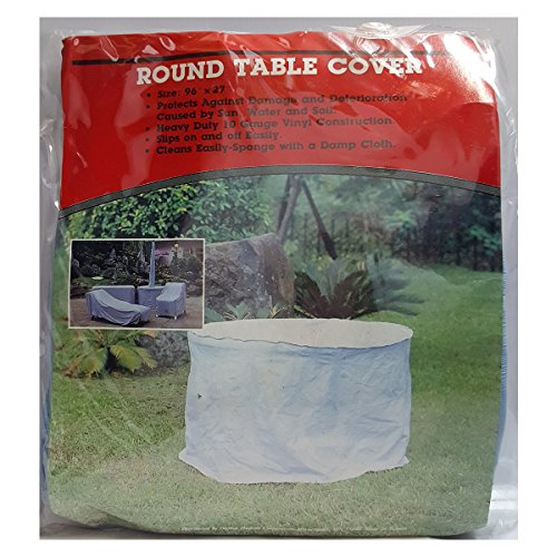 """Dayton Hudson Round Outdoor Patio Table Cover Color Blue 96"""" x 27"""""""