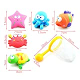 Baby Bath Water Toy for Fish Puzzle Boxed Duck Toddler Soft Toys Bathtime Fishing Set