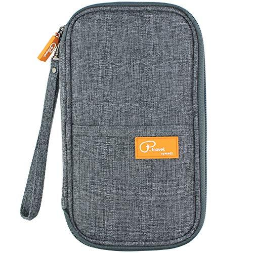 Travel Passport Wallet, Passport Holder For Family by VanFn P.Travel Series (Grey)