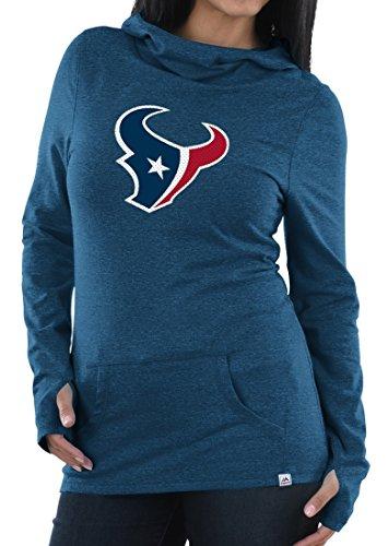 "Houston Texans Majestic NFL ""Jugar con cuello redondo sudadera con capucha de la mujer"