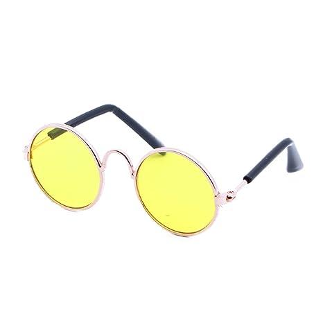 UEETEK Gafas de Sol para Gatos,Gafas de Perro de Mascota,Amarillo