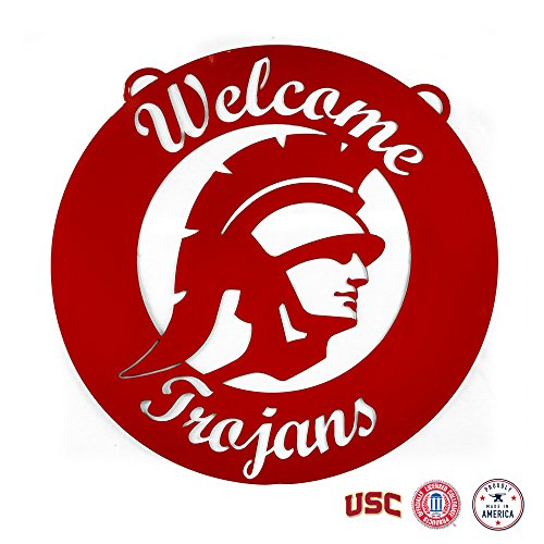 - Gameday Ironworks USC Trojans Steel Wall Sign