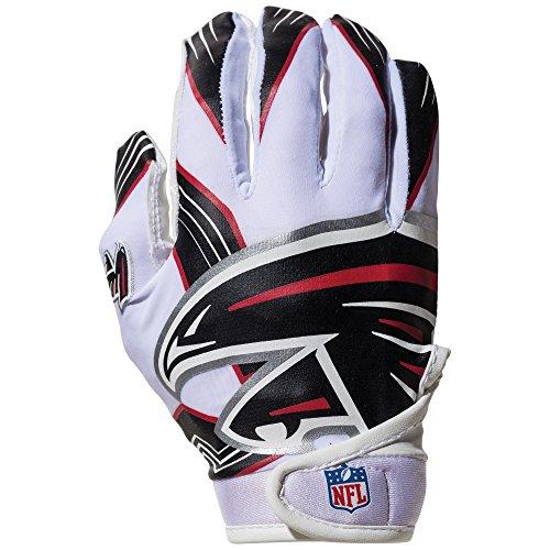 NFL Atlanta Falcons Youth Receiver Gloves,White,Medium