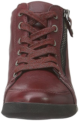 Ara Dames Rom Stf 12-44410 Hoge Sneakers Rode (robijn 17)