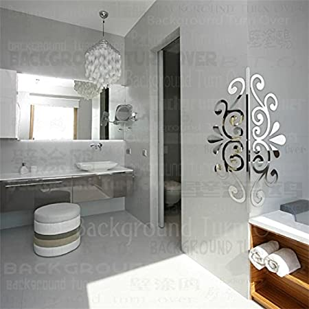 Creative Romantic Love Plant Edge Corner Guards 3d Acrylic Mirror ...