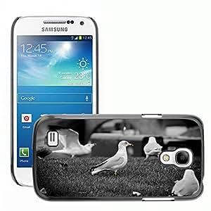 Hot Style Cell Phone PC Hard Case Cover // M00046907 white birds black grass animals // Samsung Galaxy S4 MINI GT-i9190 i9192 i9195