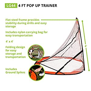 Champion Sports Lacrosse Training Goal: Pop Up & Backyard Shooting Net