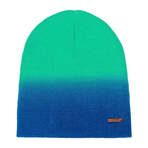 - LETHMIK Mix Color Skull Beanie,Daily Knit Skully Winter Hat Unisex Acrylic Ski Cap Green