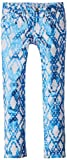 7 For All Mankind Big Girls' The Skinny Jeans, Ethnic Geo Blue, 8