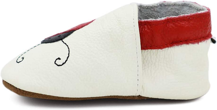 Vesi-Chaussures B/éb/é Cuir Souple Chaussons Premiers Pas Respirant pour Gar/çon Fille Nourrisson Efant Rose Taille S:0-6 Mois