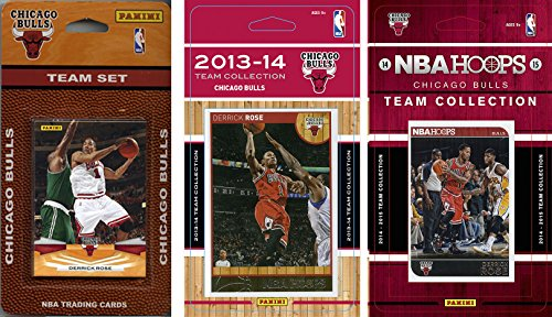 NBA Chicago Bulls 3 Different Licensed Trading Card Team Sets, Brown, One Size