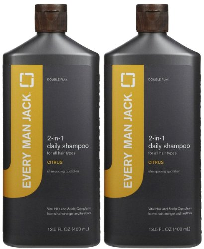 Every Man Jack 2-in-1 Daily Shampoo plus Conditioner for All Hair Types - Citrus - 13.5 oz - 2 pk