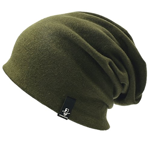 60a1e071fb1c3 Ruphedy Men Slouch Beanie - Oversized Winter Knit Skull Cap Long Baggy  Stretchy Ski Hat N010