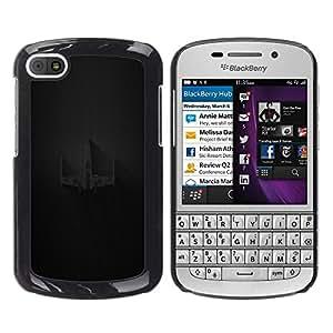 EJOY---Cubierta de la caja de protección la piel dura para el / BlackBerry Q10 / --X Ala