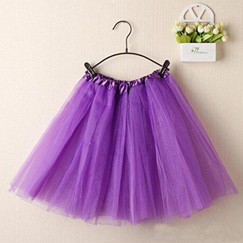 Dentelle Jupe en lgant Violet Mini Jupe Tutu Couleur Femme LuckyGirls Pure Couches Ballet Organza qEUHH8
