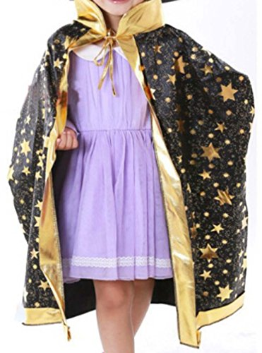 Party Halloween&Christmas Dance Party Hat Wizard&Witches Hat/Cloak Black by Panda Superstore (Image #1)