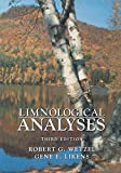 Limnological Analyses 9780387989280