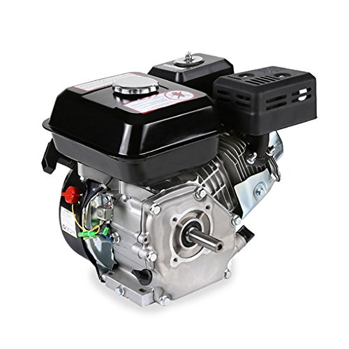 EBERTH 6.5 HP 4.8 kW Petrol Engine (19.05 mm Shaft, Low Oil Protection, Air-cooled Singel Cylinder 4-stroke Engine, Recoil Start)