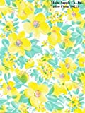 "Yellow Floral Series F0221 Vinyl Tablecloth 54"" X 45' Roll"