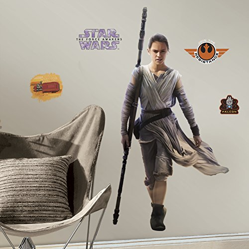 RoomMates RMK3149GM Star Wars EP VII Rey P&S Giant Wall Decal, 28.6