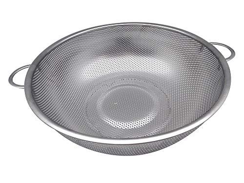 TkUniware Stainless Steel Rice/Pasta/Vegetable/Fruit Colander 13.5 Inch 2234 from TkUniware