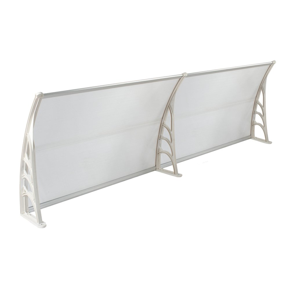 noir MCTECH 120 x 76 cm Auvent de Porte Store Entr/ée Protection Marquise de porte transparent polycarbonate