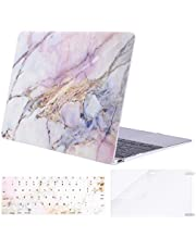 MOSISO Plastic Pattern Hard Case & Keyboard Cover & Screen Protector Compatible MacBook 12 Inch with Retina Display A1534 (Newest Version 2017/2016/2015), Colorful Marble