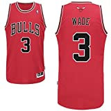Dwyane Wade Chicago Bulls Mens Red Jersey L