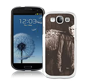 Daryl Dixon White Case for Samsung Galaxy S3 i9300,Prefectly fit and directly access all the features