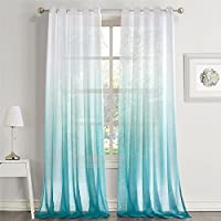 Dreaming Casa Gradient Ombre Sheer Curtains Draperies...