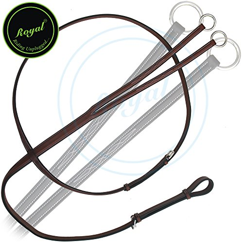 Royal Fancy Square Raised Running Martingale./ Vegetable Tanned Leather./ Stainless Steel Buckles. (Fancy Sewn Bridle)