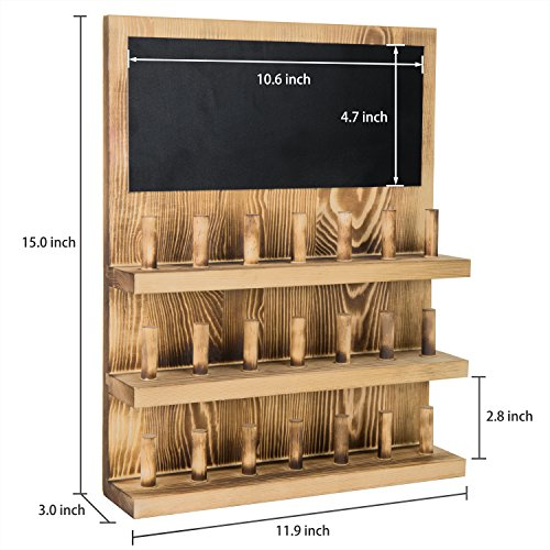MyGift 3-Tier Wall-Mounted Wood Ring Display Rack with Chalkboard by MyGift (Image #6)