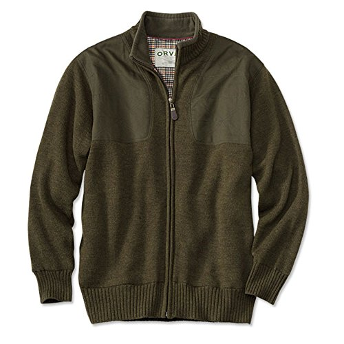 Orvis Foul-Weather Lined Sweater, Dark Olive, XL