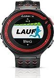 Garmin Forerunner 220 - Reloj de carrera con GPS, color negro y rojo