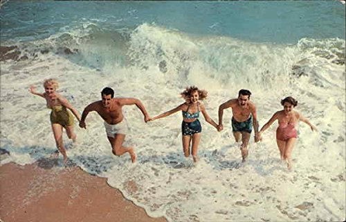 Couples Playing in the Surf Other Original Vintage Postcard from CardCow Vintage Postcards