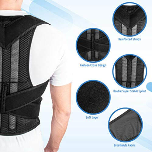 YunZyun Back Posture Corrector Magnetic Shoulder Corrector Support Brace Belt Therapy for Men and Women (XXL)