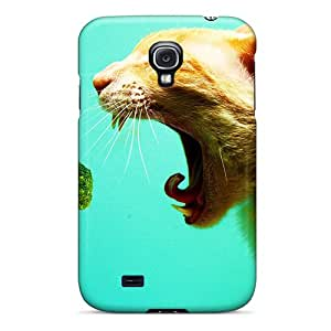 Hot Style NbxPj13637wmfUe Protective Case Cover For Galaxys4(vegeterian Cat)
