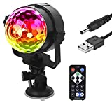 Disco Light for Parties, Cuitan Sound Activated Stage Lighting LED Ball Light with Remote for Room Car DJ Karaoke Halloween Christmas Xmas Birthday Wedding Home Indoor Outdoor Decorations