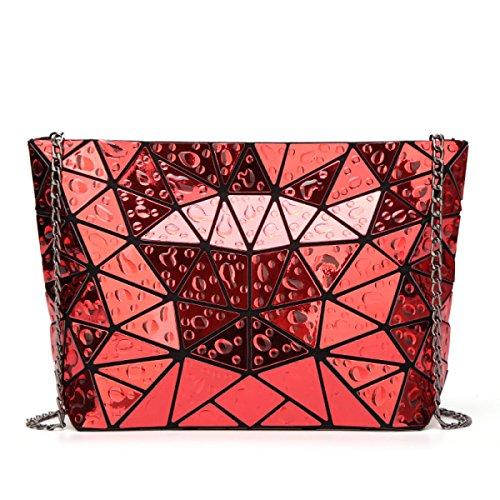 Bolsos Geométricos Bolsos De Mujer Bolsos Bolso Del Mensajero Bolsos De Hombro Bolso De Cadena Dimond Elegante Bolso Plegable Red