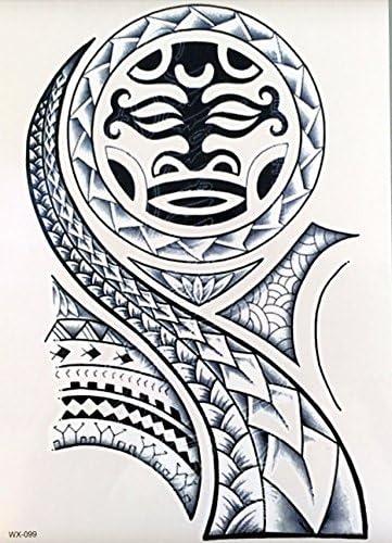 Hombres Tribal Tattoo Negro wx099 brazo tatuaje pegatinas Maorí y ...