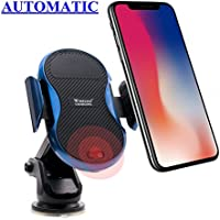 NTH Cell Phone Holder with Wireless Charger for Car Smart Car Phone Mount Car Charger Stand for Samsung Galaxy S9 S8+ S7 edge S6 edge+ Note8 iPhone X 8 Plus and Other Qi-enabled Device Model C8