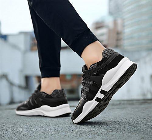 RENMEN RNMEN Hommes Chaussures D'été Mesh Respirant Sport Casual Chaussures Léger Taille Étudiant Faible Aide Chaussures 39-47, Black