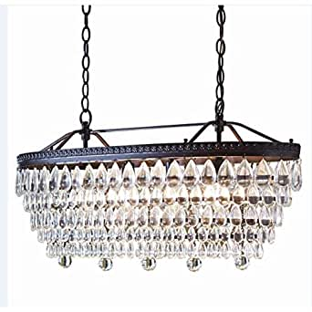 Allen Roth 4 Light Oil Rubbed Bronze Crystal Chandelier