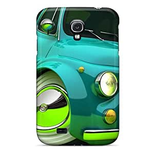 Durable Defender Cases For Galaxy S4 Tpu Covers(3d Fiat)