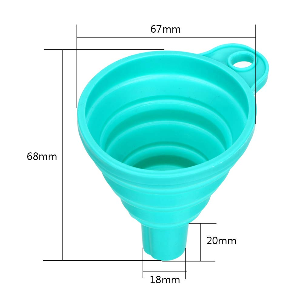 Random Color iTimo Mini Silicone Foldable Funnels Protable Foldable Hopper Collapsible Style Funnel Gadgets Kitchen Cozinha Cooking Tools