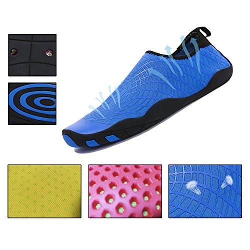 Wqinshoe Mannen En Vrouwen Barefoot Sneldrogende Watersporten Aqua Schoenen Voor Strand Zwembad Surfen Yoga Duiken Blue2