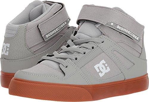 DC Boys' Pure High-Top EV Skate Shoe, Grey/Gum, 10.5 M US Little (Dc Pure Boys Shoes)