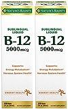 B-12 5000 mcg Sublingual Liquid Energy Health, 2 Fl Oz (2 Bottles)