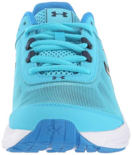 Under Armour Girls' Grade School Rave 2 Sneaker, Alpine (301)/Blue Circuit, 4 by Under Armour (Image #4)