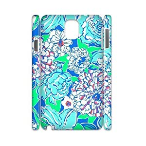 Blue Flowers DIY 3D Cover Case for Samsung Galaxy Note 3 N9000,personalized phone case ygtg613085 hjbrhga1544